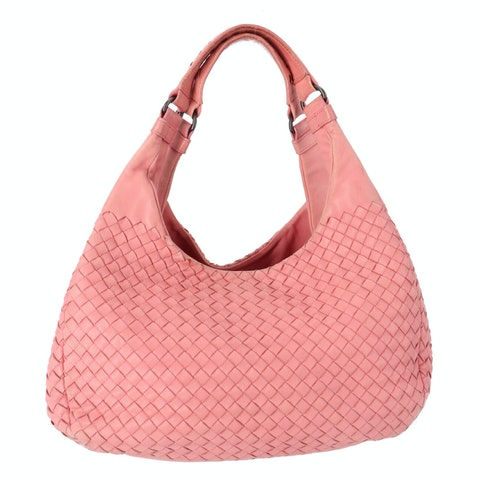 Bottega Veneta Pink Medium Intrecciato Shoulder Bag