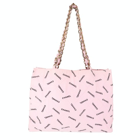 Pink Canvas Quilted Shopper