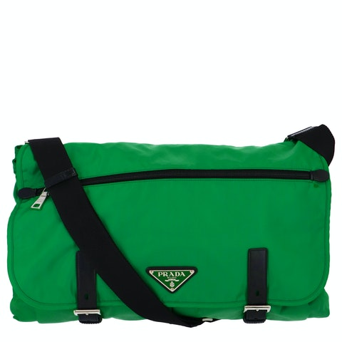 Green Nylon XL Messenger