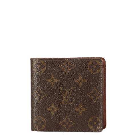Monogram Canvas Flap Wallet