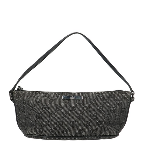 Gucci Grey Diamante Canvas Boat Pochette