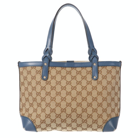Brown Diamante Canvas Tote