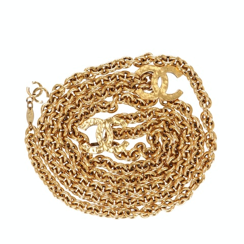 Gold-Toned Logo Chain Belt