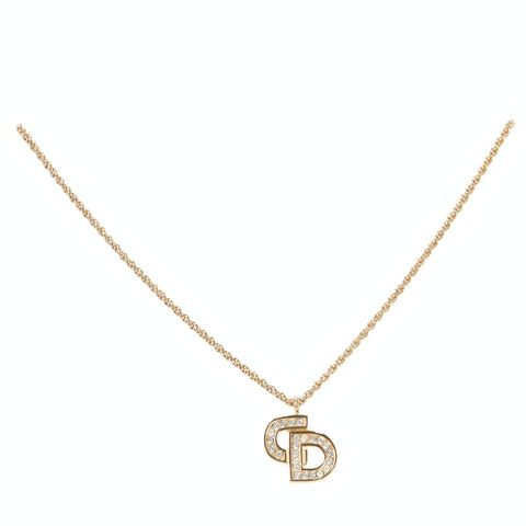 Dior Gold-Toned 'CD' Logo Necklace