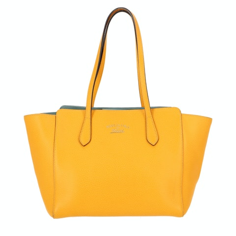 YellowLeather Swing Tote
