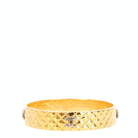 Gold-Toned 'CC' Bangle