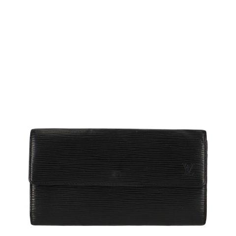 Black Epi Long Wallet