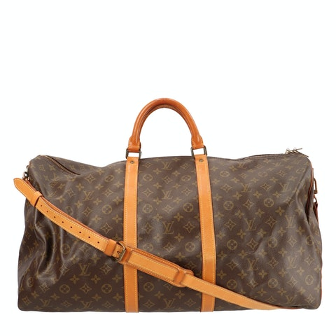 Monogram Canvas Keepall Bandouliere 60