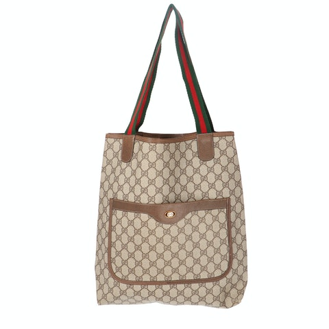 Brown Diamante Coated Canvas Accessory Collection Tote