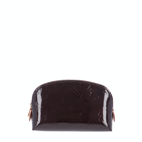 Purple Monogram Vernis Cosmetic Pouch