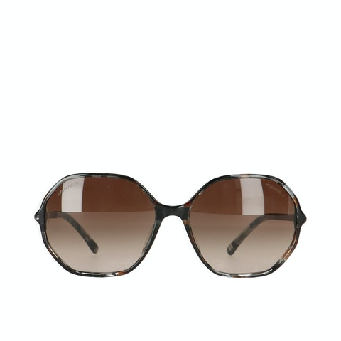 Chanel Brown Metal Sunglasses