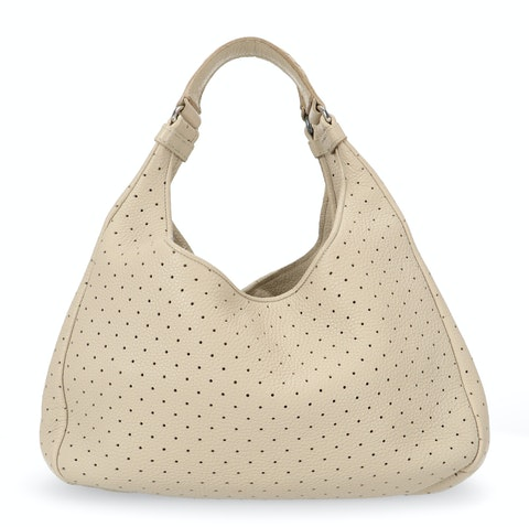 Bottega Veneta Beige Intrecciato Shoulder Bag