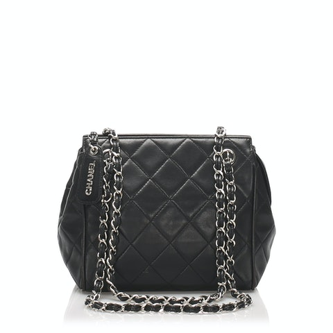 Matelasse Lambskin Leather Shoulder Bag