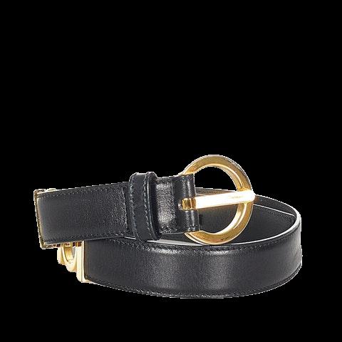 Gancini Leather Belt