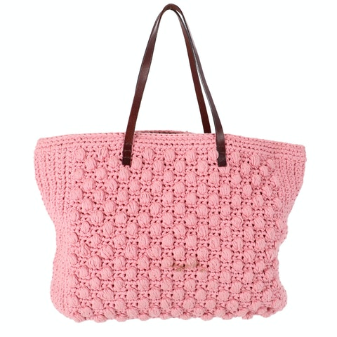 Pink Knitted Shopper