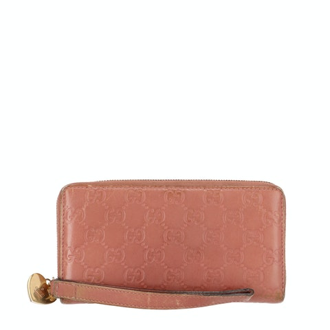 Pink Guccissima Leather Long Wallet
