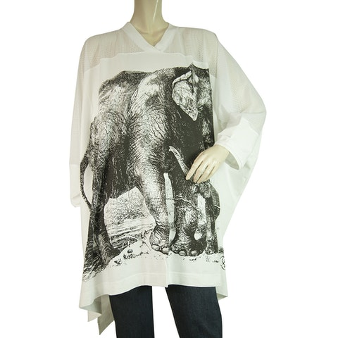 Anglomania Elephant White & Black Oversize Long Top