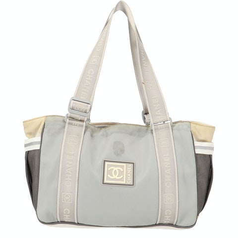 Grey Nylon 'CC' Sport Shopper