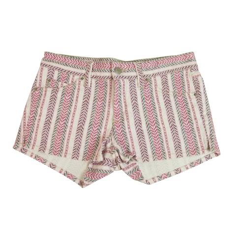 Isabel Marant Etoile Pink Purple Herringbone Summer Shorts Pants size 38
