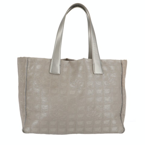 Silver New Travel Line Tote