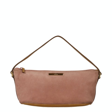 Gucci Pink Diamante Canvas Boat Pochette