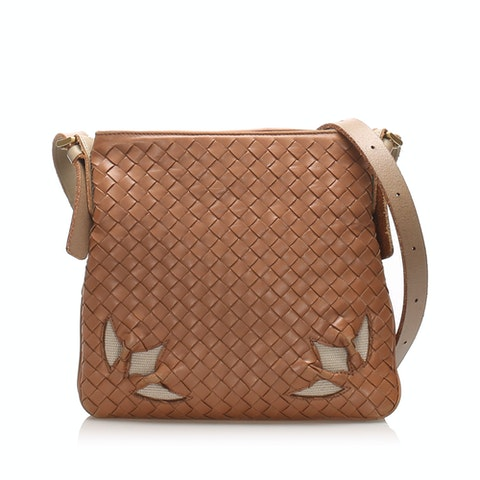Intrecciato Leather Crossbody Bag