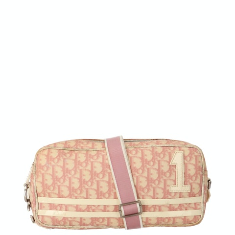 Pink Oblique Coated Canvas Crossbody