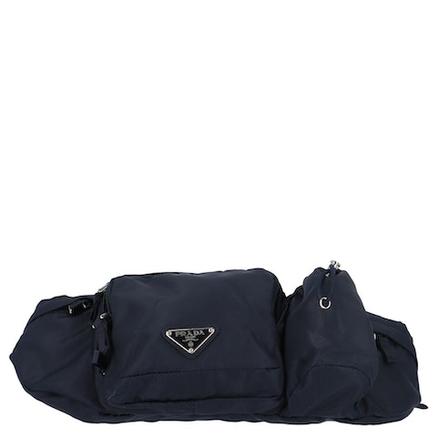 Prada Blue Nylon Belt Bag