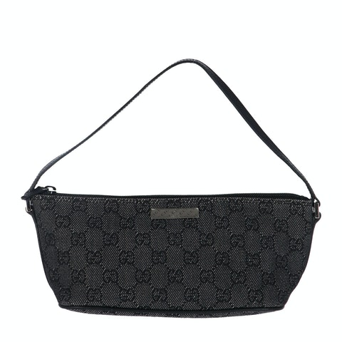Gucci Black Denim Boat Pochette