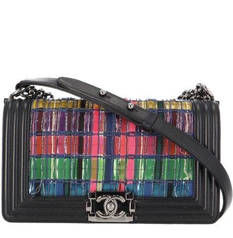 Multicolor Medium Leather and PVC Boy Bag