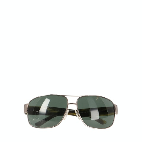 Silver-Toned Metal Sunglasses