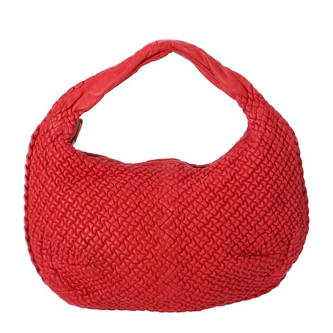 Bottega Veneta Red Mini Ponza Small Belly Hobo