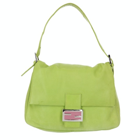 Green Leather Baguette Mamma