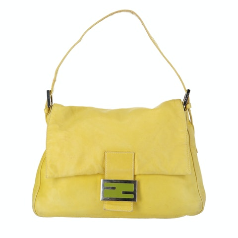Yellow Leather Baguette Mamma