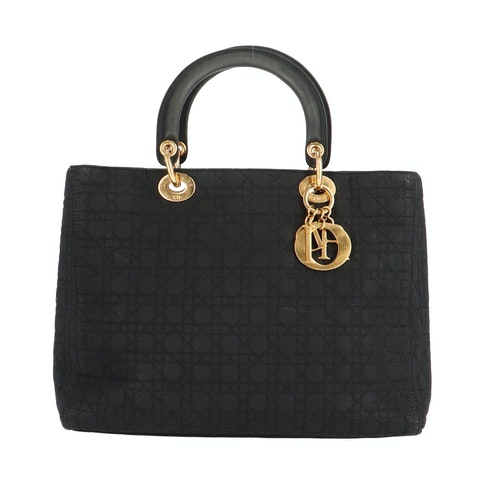 Black Felt Lady Dior Large