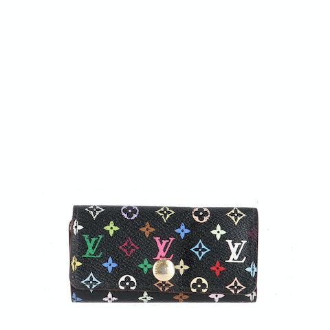 Louis Vuitton Black Multicolor Monogram Canvas Key Case