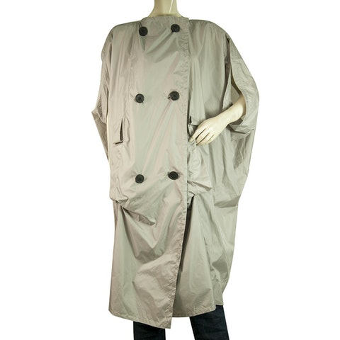Anglomania Gray Cape Lightweight Trench Jacket