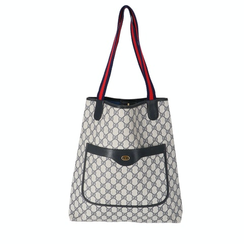 Gucci Blue Diamante Coated Canvas Accessory Collection Tote