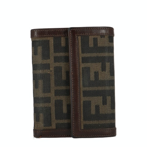 Brown Zucca Canvas Trifold Wallet
