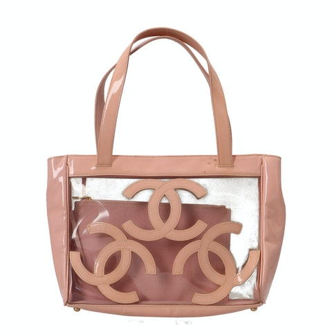 Pink Transparent Rubber Tote