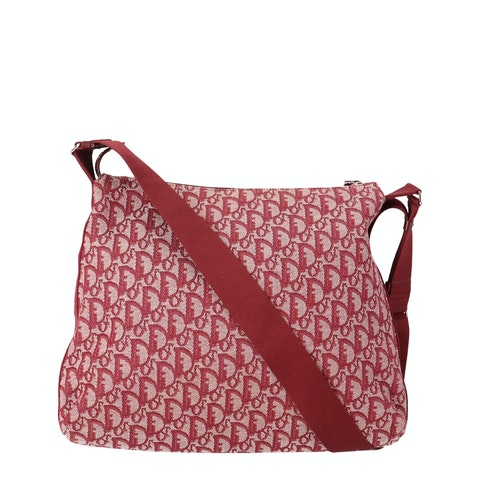 Red Jacquard Canvas Trotter Crossbody
