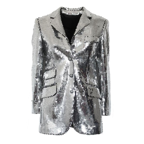 Silver Fabric Jacket