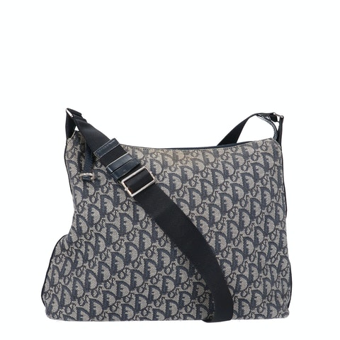 Blue Jacquard Canvas Trotter Crossbody