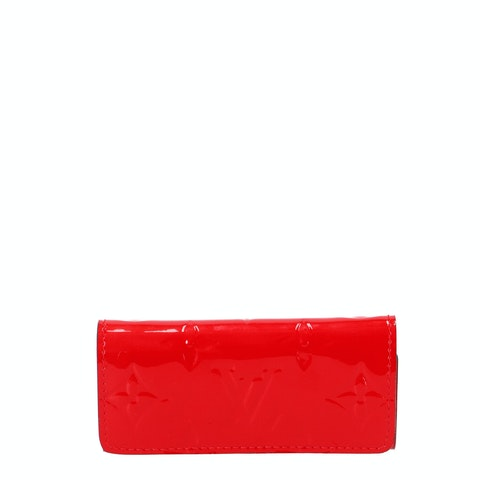 Louis Vuitton Red Monogram Vernis Key Case