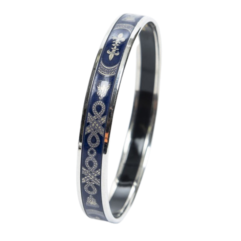 Enamel Bangle PM in Navy Blue Stainless Steel without Nickle