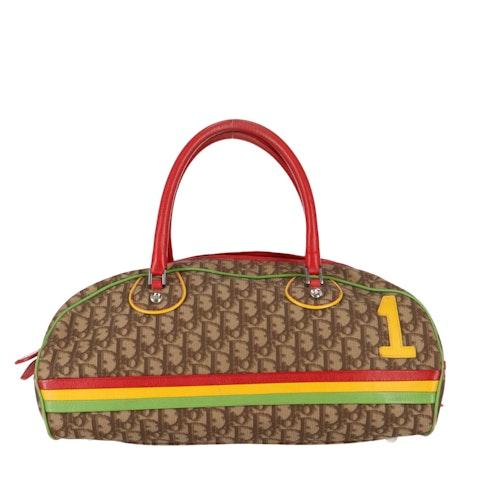 Brown Rasta Coated Canvas Bowling Bag