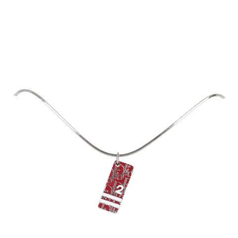 Silver-Toned Nameplate Necklace