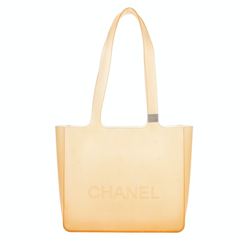 Yellow Rubber Tote