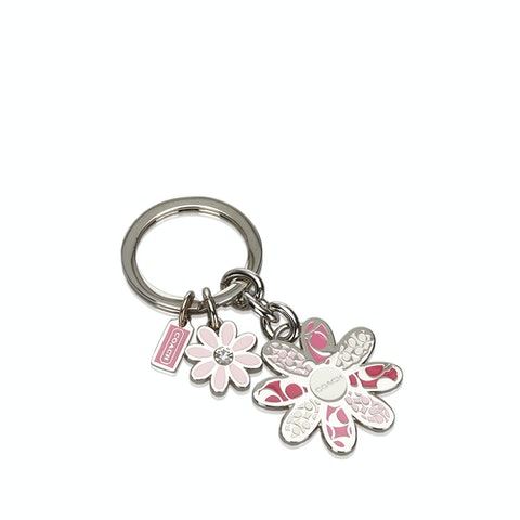 Metal Floral Key Ring
