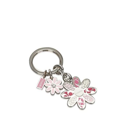 Metal Floral Key Ring